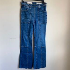 Pilcro and the letterpress high rise bootcut jean